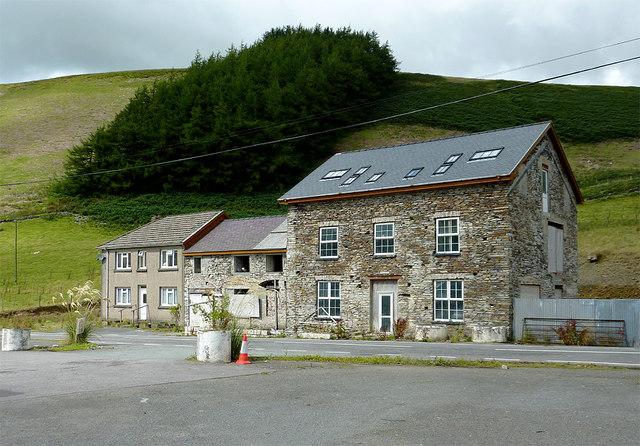 Former hotel near Ponterwyd, Ceredigion