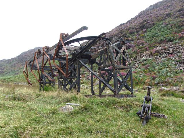 Upper cableway terminus in Cwm Bychan