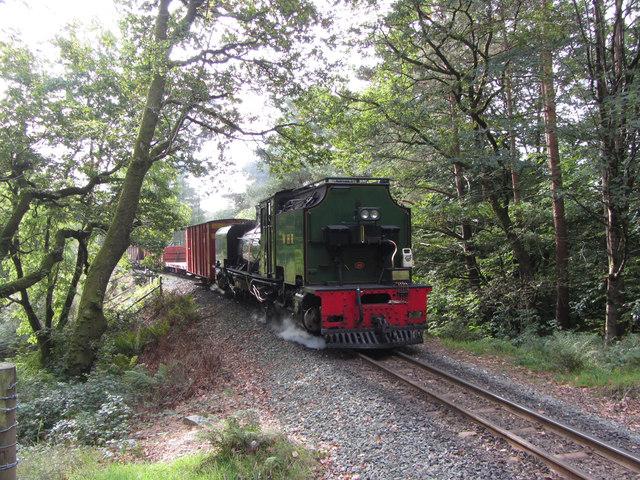 WHR train near Nantmor