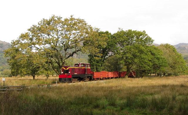 WHR freight train near Hafod-y-llyn