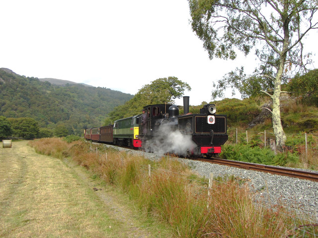WHR train near Ynys Ferlas