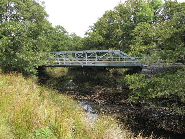 Welsh Highland Railway bridge near Ynys Ferlas