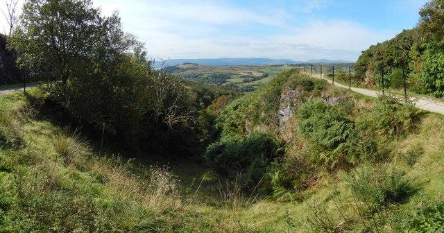 Gorge beside the Greenock Cut