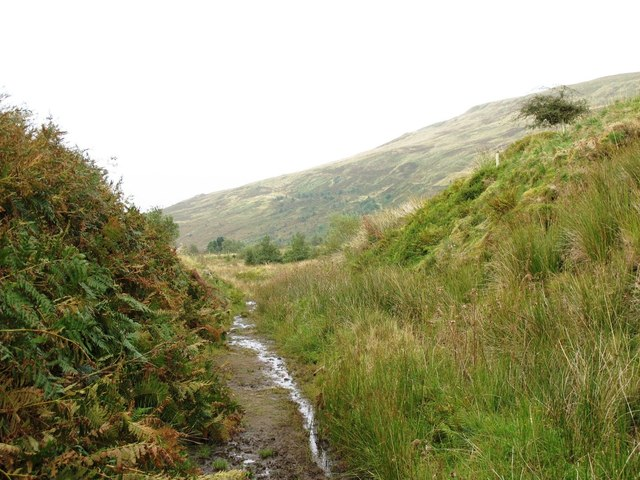 Cutting on former mineral railway between Gairs and Howgill
