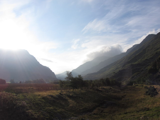 Looking up the Pass of Llanberis