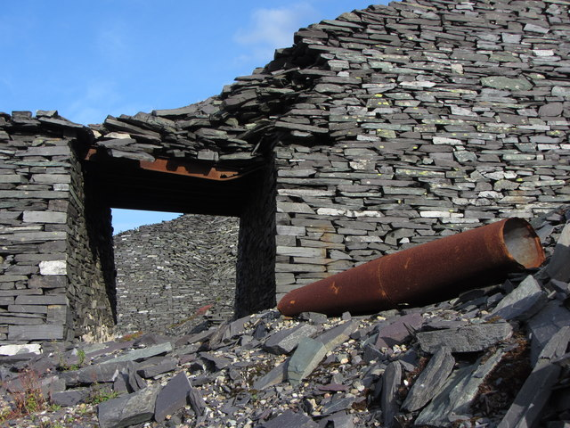 Collapse in the C3 incline at Dinorwic Quarry