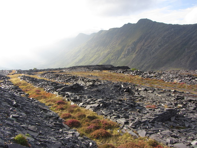 Building remains in Dinorwic Quarry