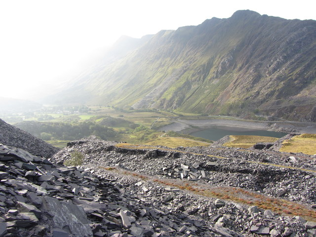 The waste tips of Dinorwic Quarry