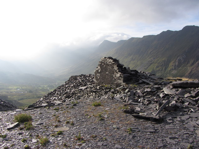 Derelict building at Dinorwic Quarry