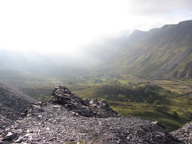 Pass of Llanberis from the Dinorwic Quarry waste tips