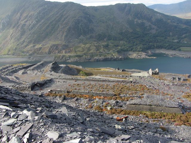 View down from Dinorwic Quarry