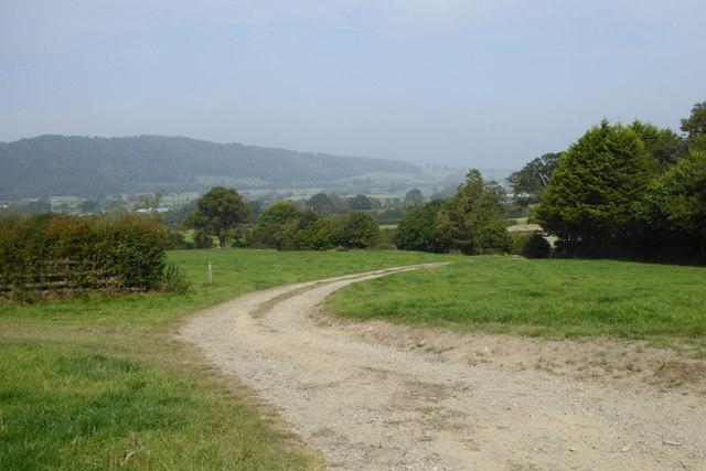 Offa's Dyke Path at Stone House Farm