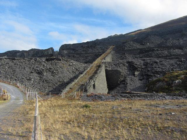 C4 incline, Dinorwic Quarry