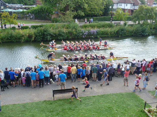The final of the Dragon Boat Race, Tonbridge