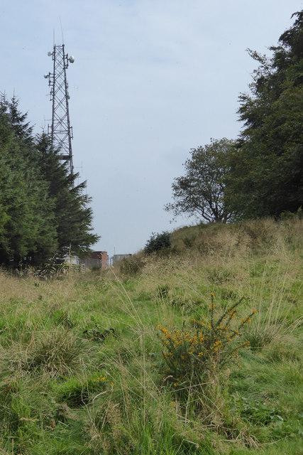 Offa's Dyke Path passes a hillfort