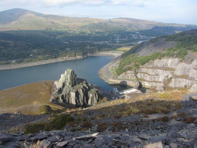 View west from Dinorwic Quarry