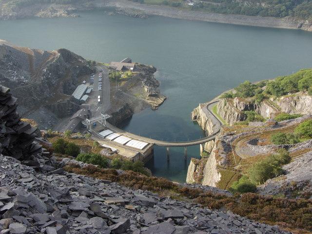 Dinorwic Power Station from Dinorwic Quarry