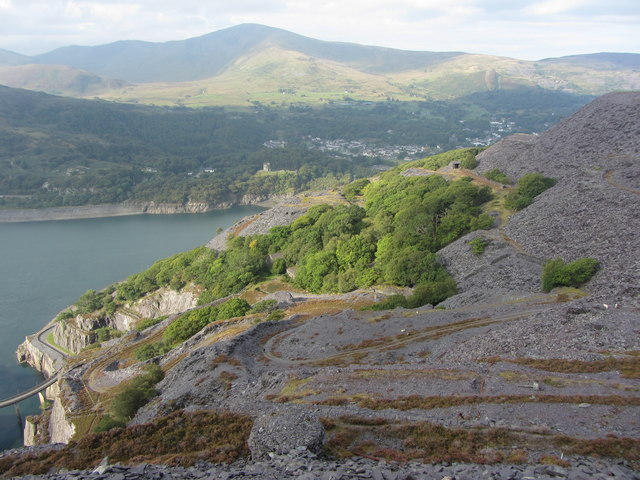View west from Dinorwic Quarry
