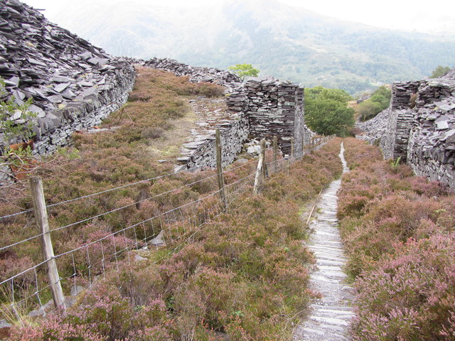 Former junction by the A4 incline, Dinorwic Quarry