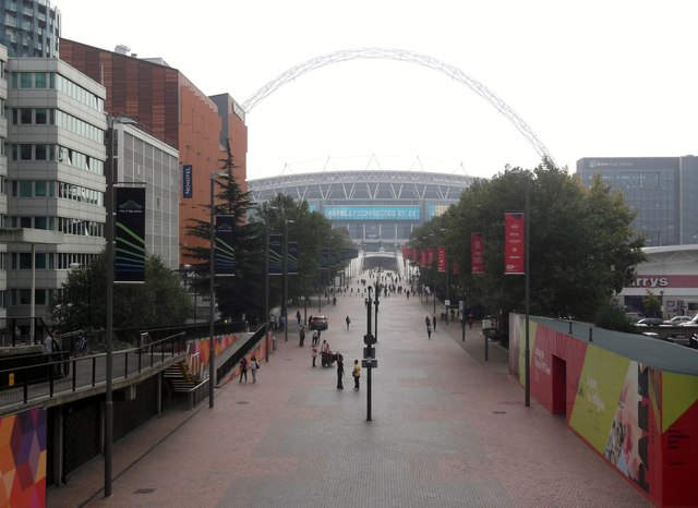Stadium Walk from Bridge Road, Wembley