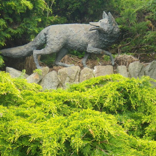 Fox Sculpture in Rodney Gardens Perth