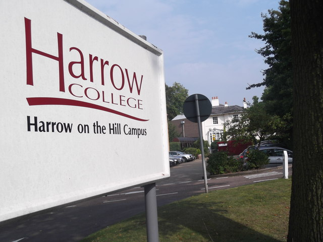 Sign, Harrow College, Tyburn Lane, Harrow