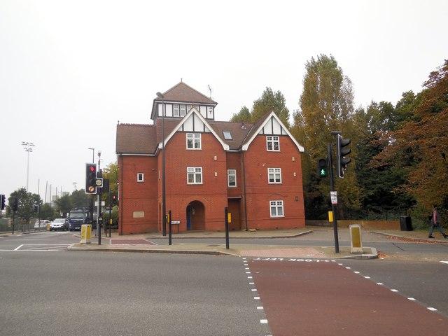 Building at Junction near Barnes Station