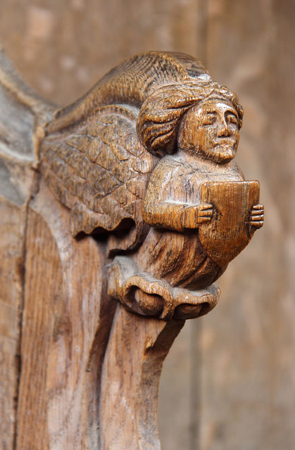St Botolph, Trunch - Bench elbow