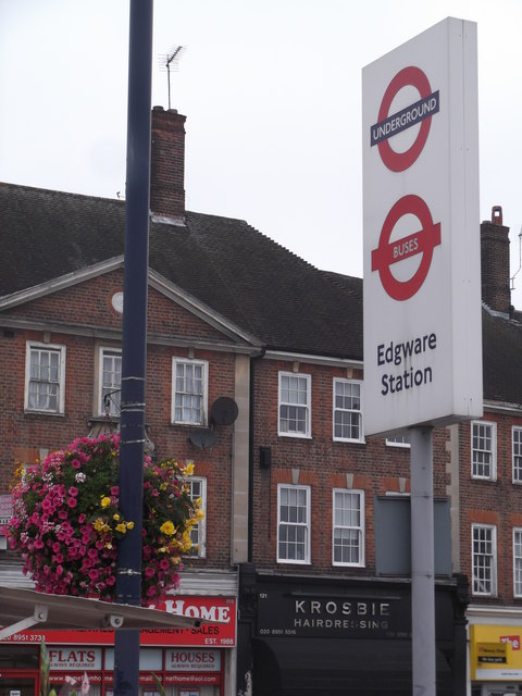 Signage, Edgware Station, Station Road