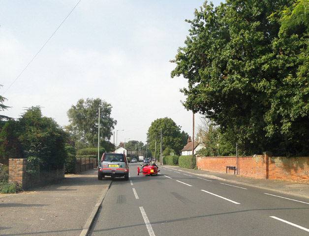 Three wheeler on High Road, Trimley St. Martin