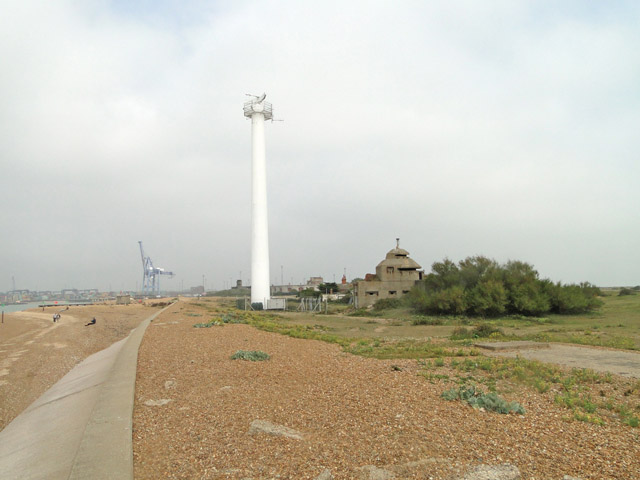 Landguard Point and the XDO blockhouse