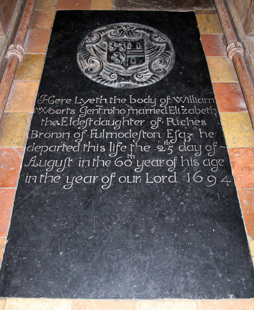 St Botolph, Trunch - Ledger slab
