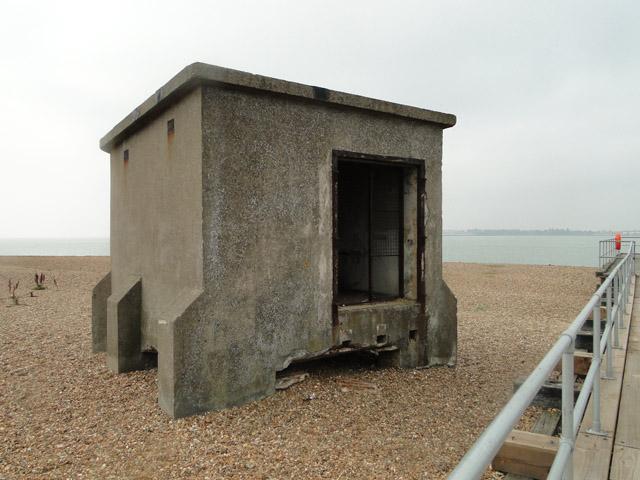 Guard hut next to a jetty