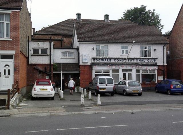 Edgware Constitutional Club, Manor Park Crescent