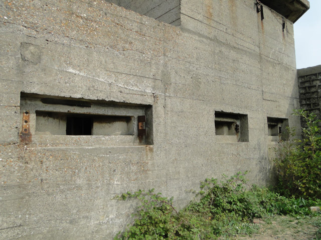 Close-up of the embrasures on the XDO blockhouse
