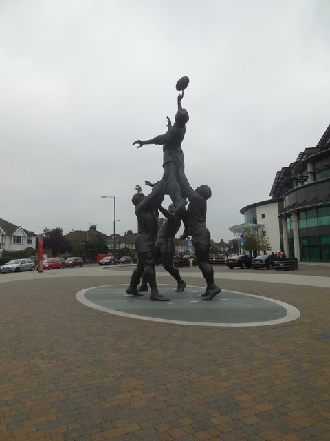 Line-Out Sculpture, Twickenham