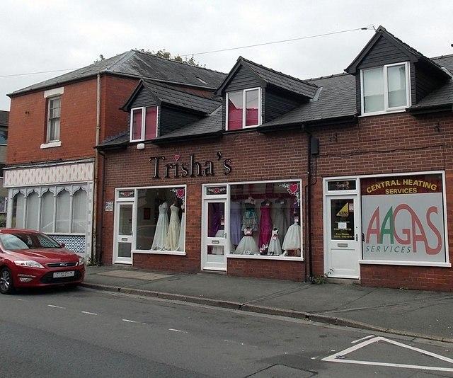 Trisha's bridalwear shop in Oswestry