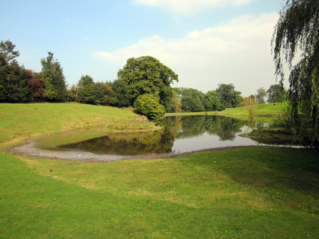 Pond at the Cotebrook Shire Horse Centre