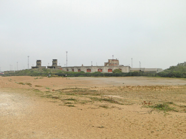 Landguard Fort from the estuary side