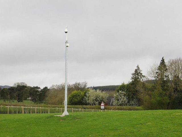CCTV, Ludlow Touring Caravan Site, Overton