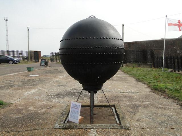 Floating mine manufactured at this Submarine Mining Establishment