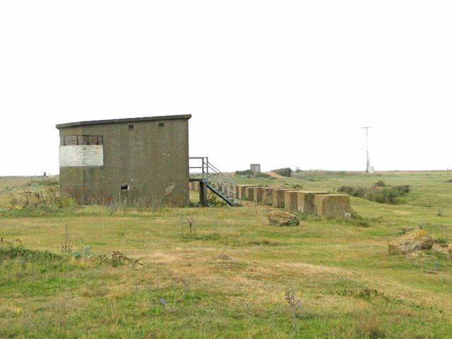 Coastal searchlight emplacement