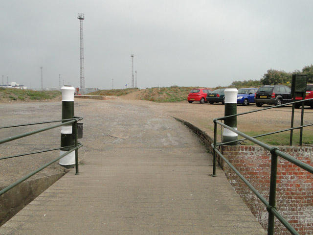 Looking out from the entrance of Landguard Fort