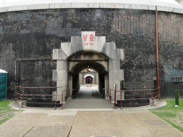 The inner gateway to Landguard Fort