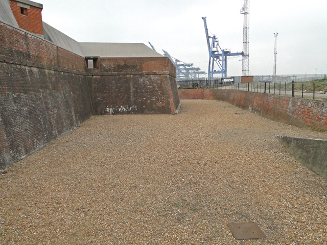 The 'moat' at Landguard Fort