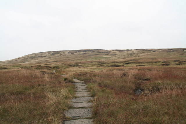 The rough, peaty slopes of Dun Hill