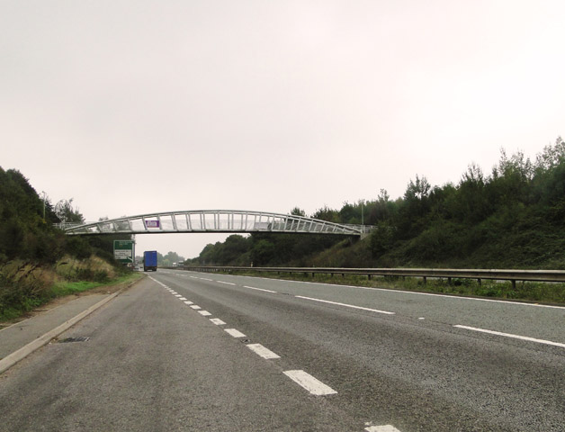 Footbridge over the A14 near the Trimleys
