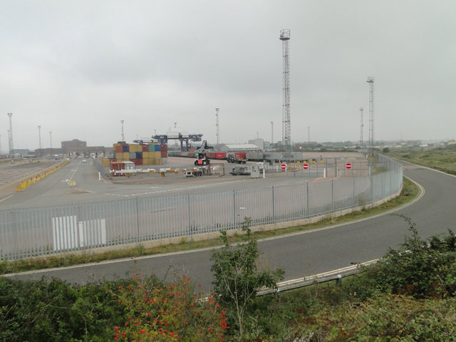 The container park at Felixstowe docks