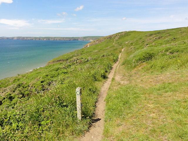 The Coast Path along the Clifftop
