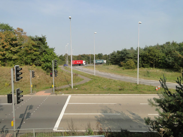 Roundabout at Trimley St. Mary
